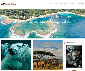 ZM Geographic Blogger Template