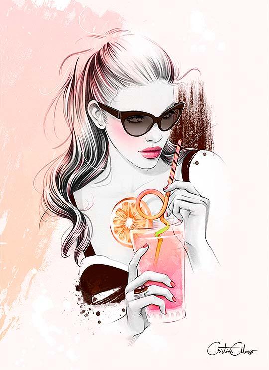 Ilustración de moda y publicitaria de Cristina Alonso