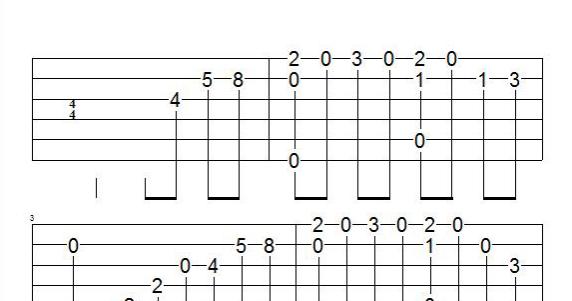 Guitar u00bb Godfather Theme Guitar Tabs - Music Sheets, Tablature, Chords and Lyrics