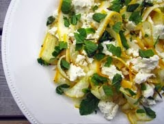 Courgette and Lemon Salad with Feta and Mint