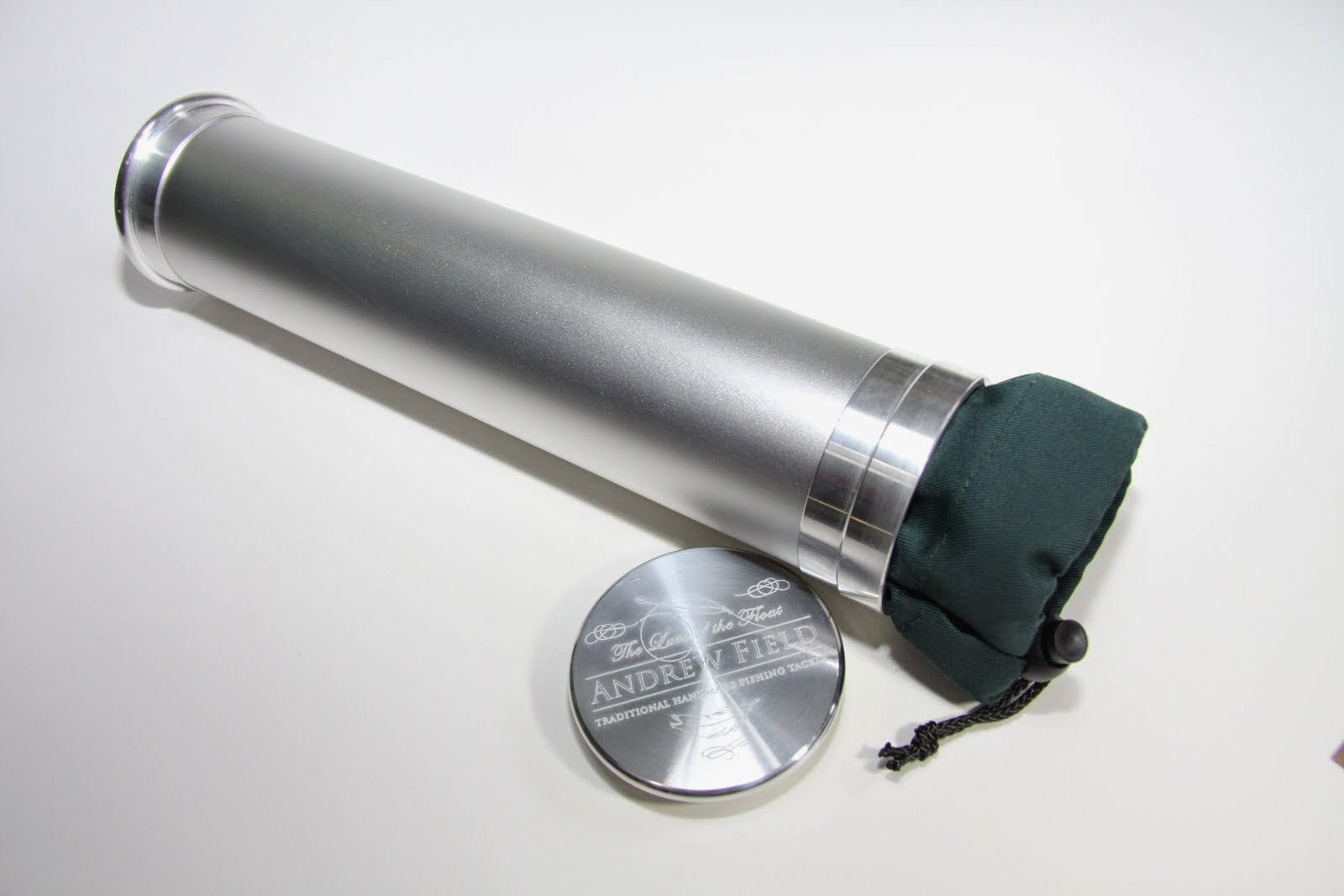 Silver Aluminium Tube and Drawstring pouch