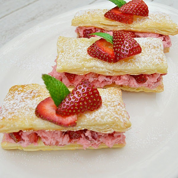 strawberry cream pastries
