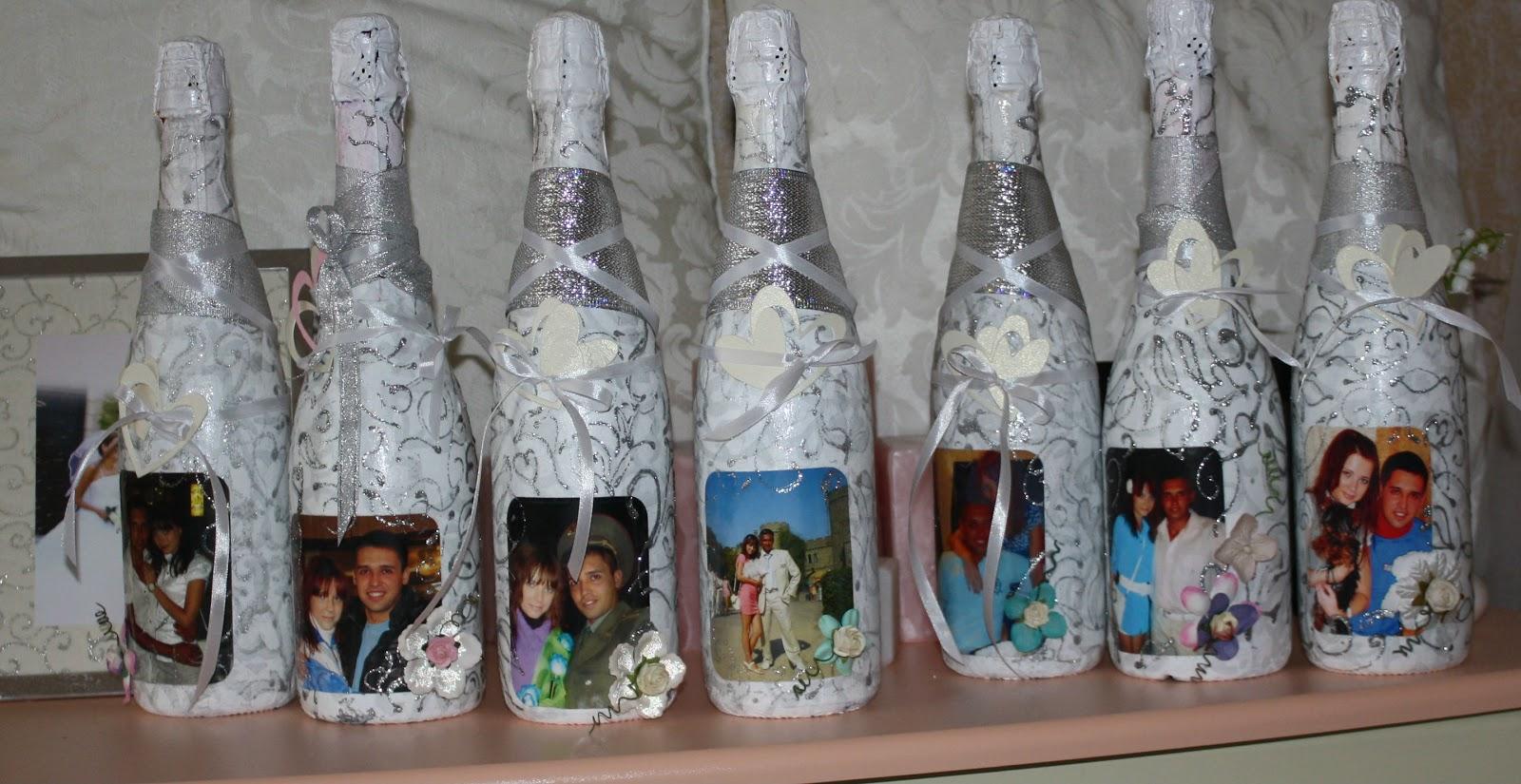 Украсить бутылку шампанского своими руками с фото