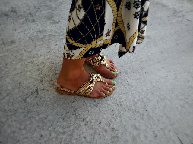 charlotte russe golden sandals