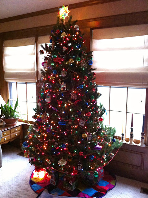 White Christmas Tree Multicolor Lights