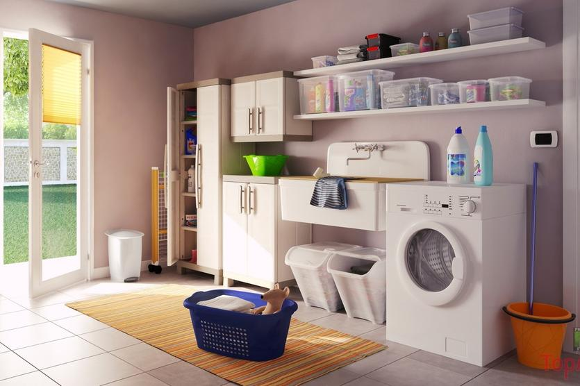 Angolo Lavanderia Terrazzo : Come arredare l angolo lavanderia idee utili per la casa