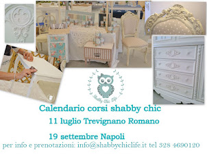 Calendario corsi shabby chic con Decora Facile