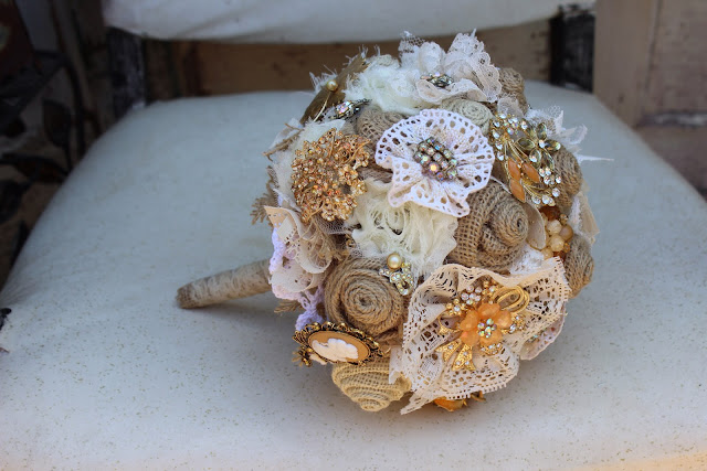 Vintage, Rustic Wedding Bouquet