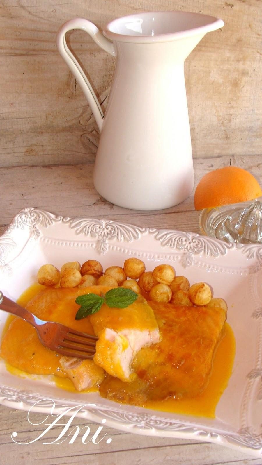 La cocina de ani salm n a la naranja facil simo for Como se cocina el salmon