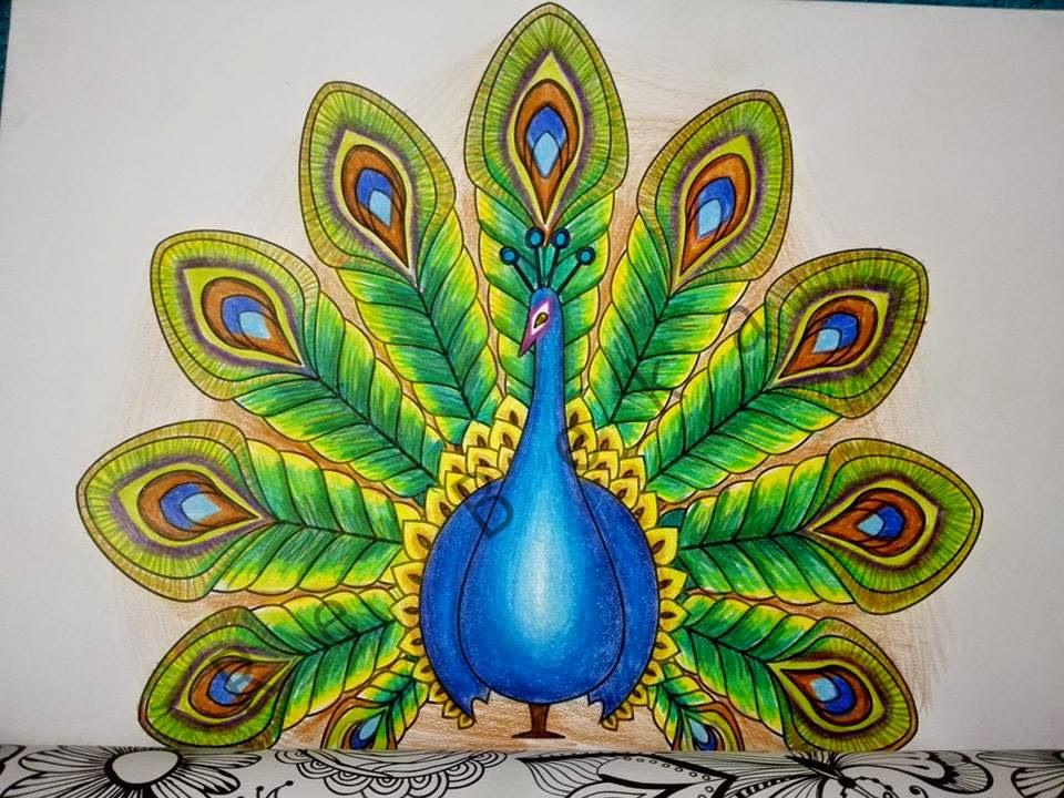 Coloriages art th rapie de re beka - Dessin de paon ...