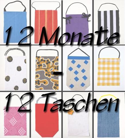 12 Monate - 12 Taschen