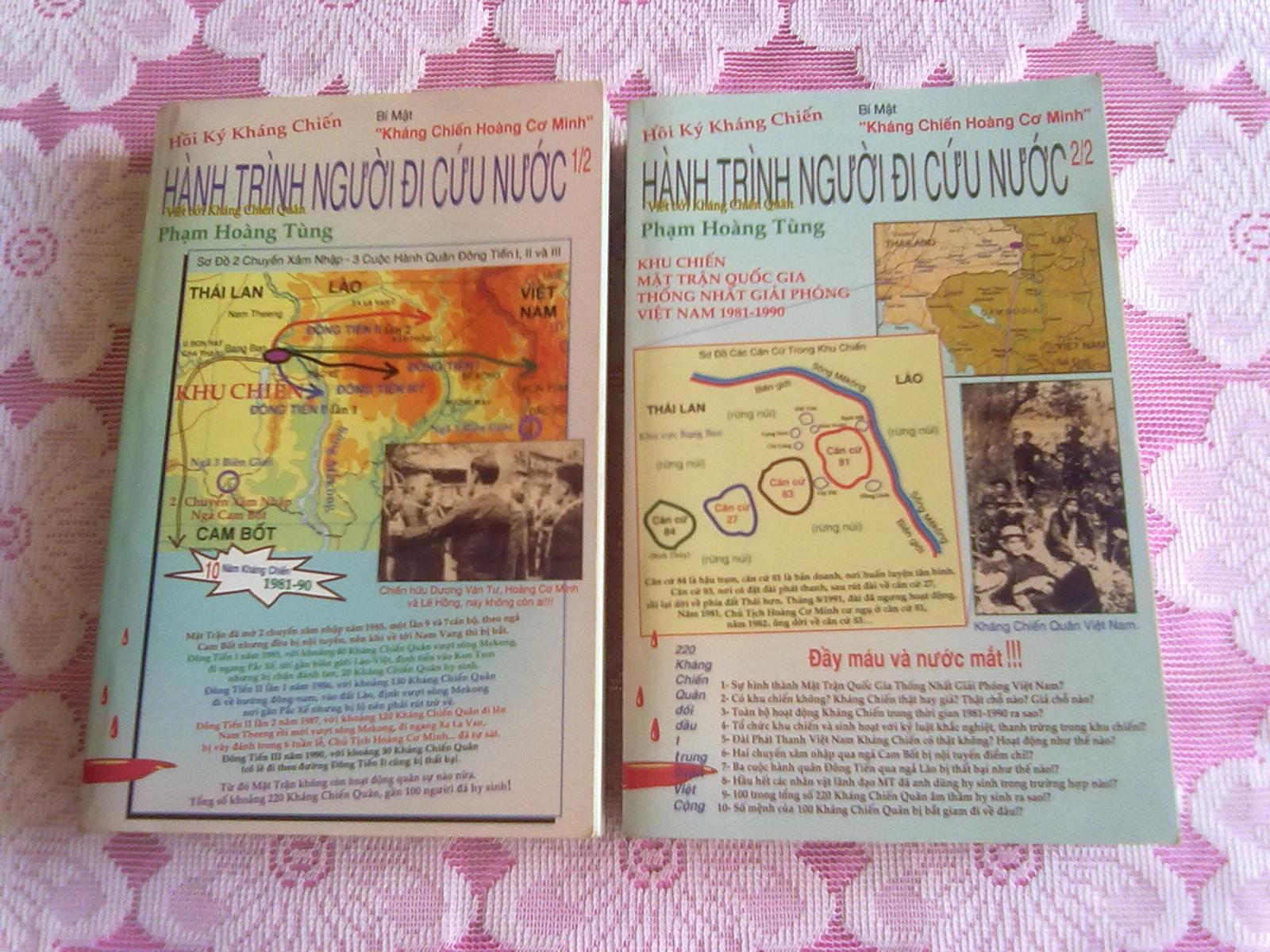 Hình Bìa Trước Hai Quyển & Hồi Ký Hành Trình NgườI Đi Cứu Nước