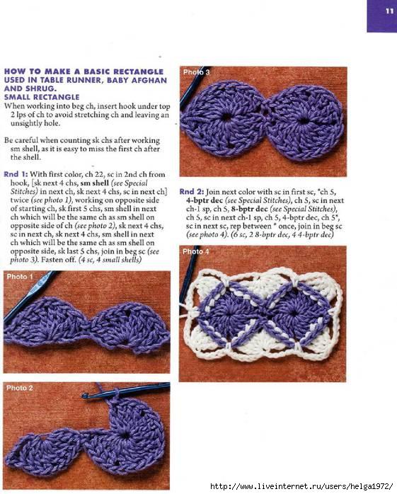 Вязание крючком баварское вязание схема 44