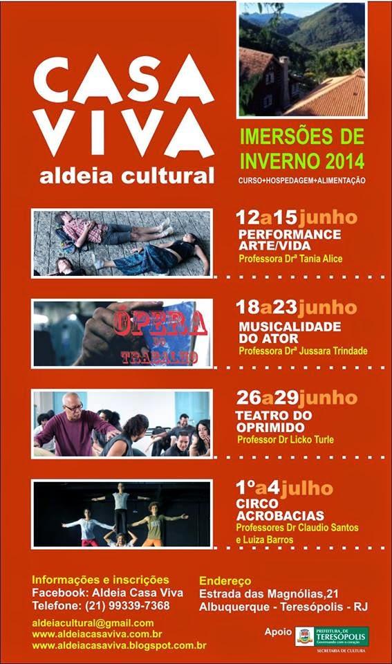 Aldeia Cultural Casa Viva de Teresópolis promove oficinas culturais em junho e julho