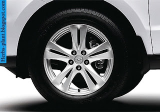 Hyundai santa fe car 2012 tyres/wheel - صور اطارات سيارة هيونداى سنتافي 2012