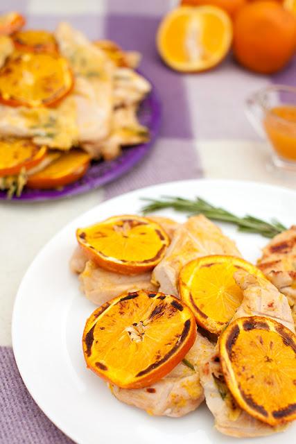 Грудинка в апельсиновом маринаде на мангале