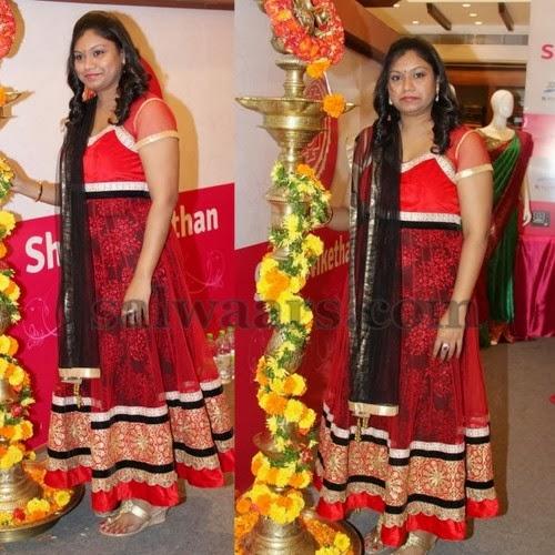 Brasso Anarkali Churidar in Red
