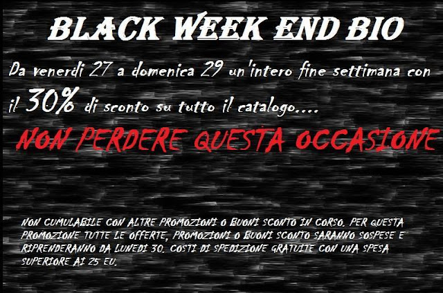 Promo -30% sconto black ween end bio