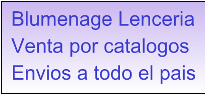 Lenceria Blumenage