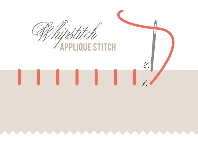 whipstitch applique embroidery tutorial