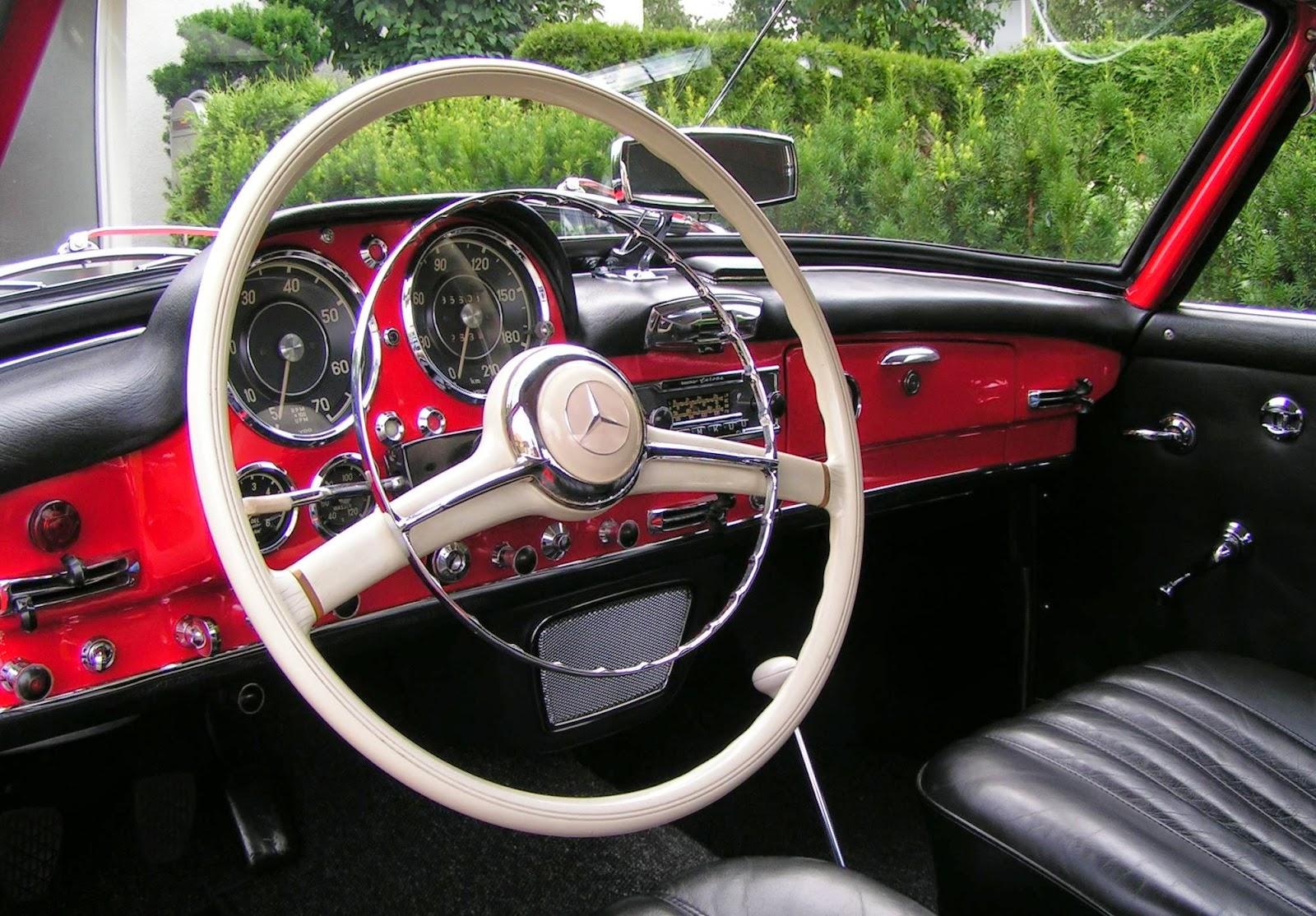 Armaturenbrett mercedes  Classic Cars: Mercedes - Benz / Old Streering Wheels