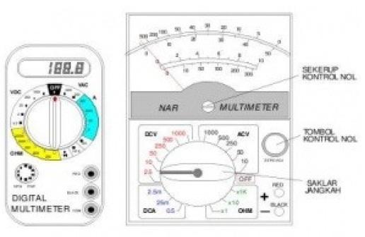 Multimeter dan Cara Menggunakannya