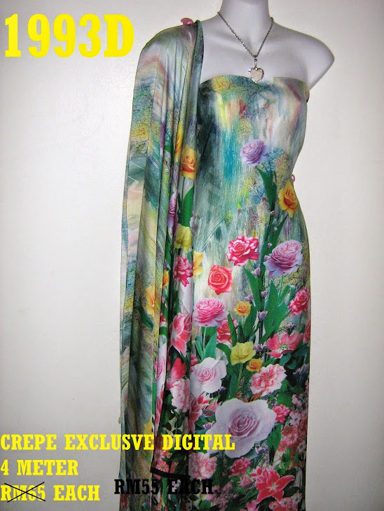 1993D: CREPE EXCLUSIVE DIGITAL PRINTED, 4 METER