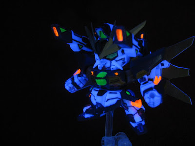 Gundam DX Fluorescent painted@gashapon next21 / black light photography