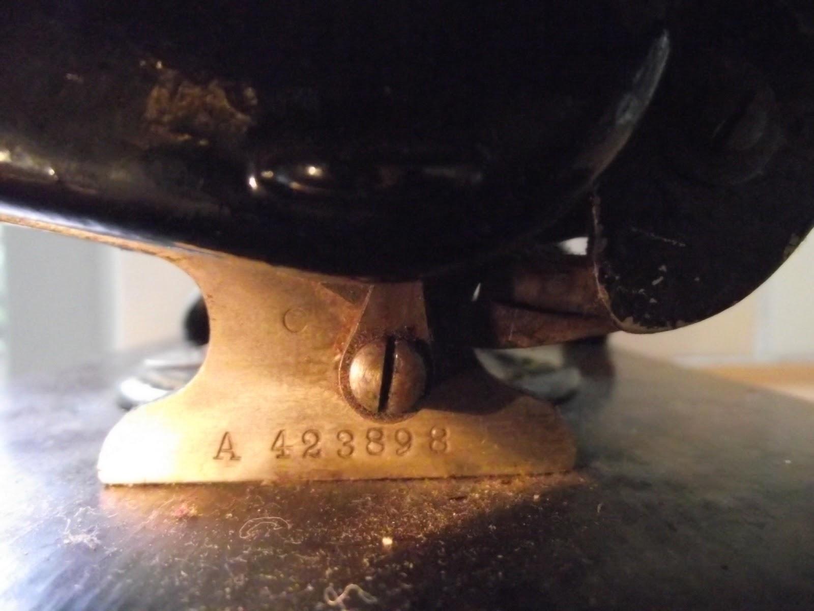 willcox & gibbs serial numbers