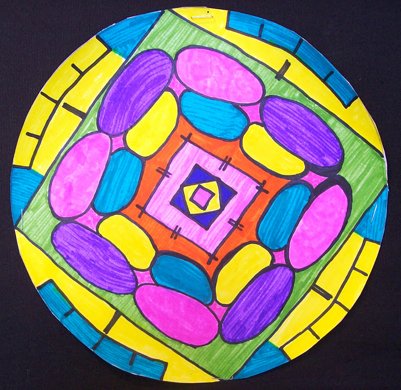 Radial Design Art : Art at midway middle school radial name designs