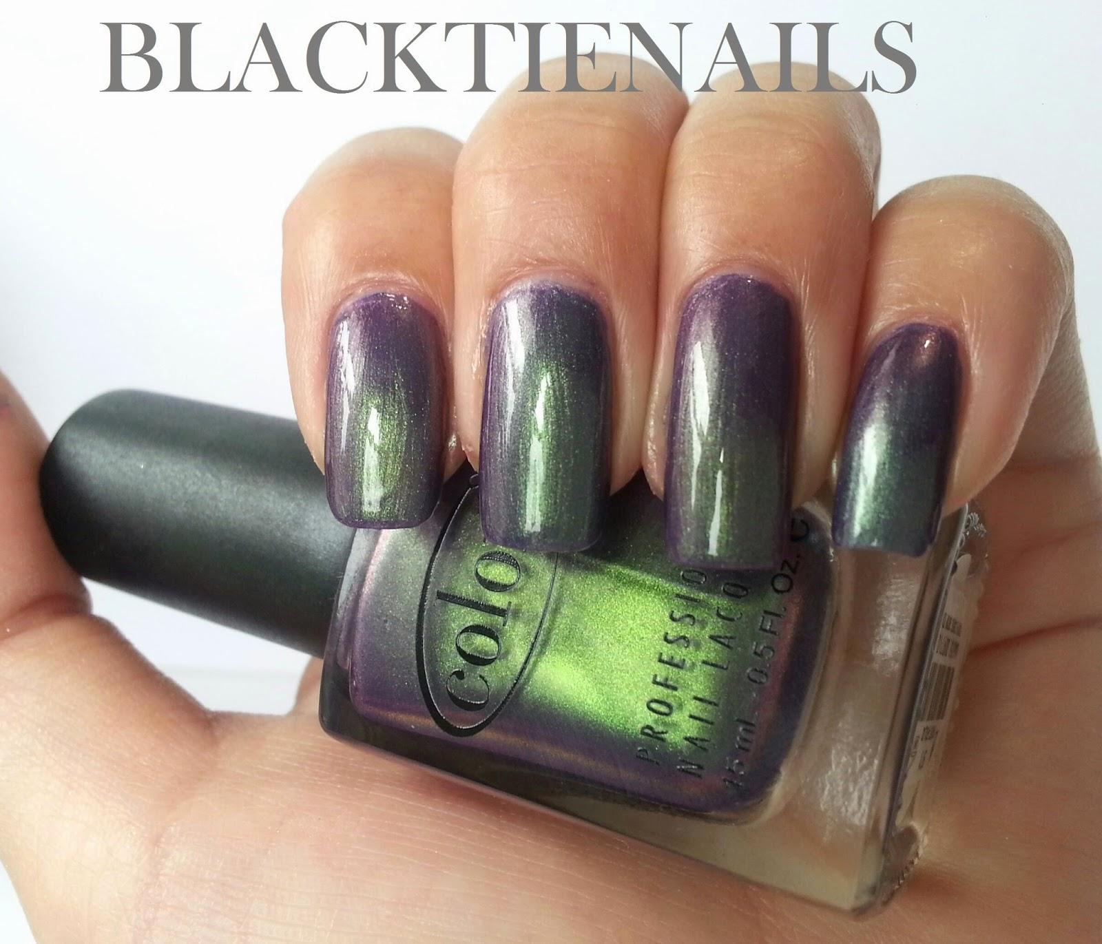 Black Heart Nail Polish: Black Tie Nails: Blackheart Beauty Nail Polish Swatches