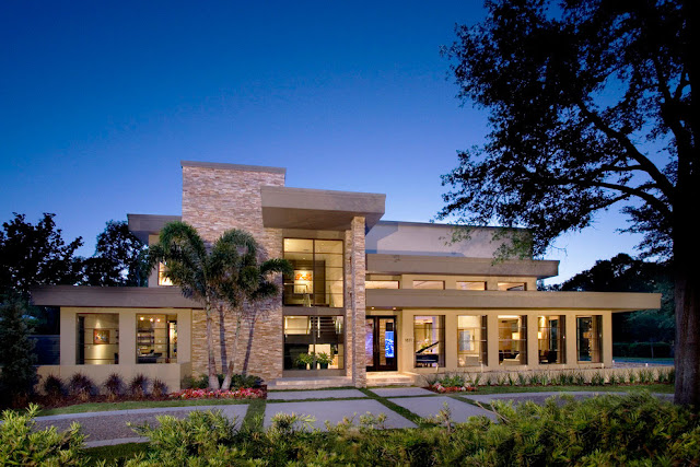 World of architecture beautiful home as a mix of modern for Modern florida homes