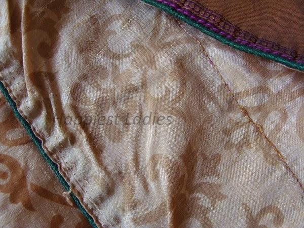 stitching my own saree