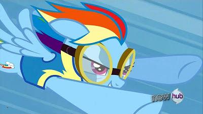 Rainbow Dash in her Wonderbolts cadet uniform
