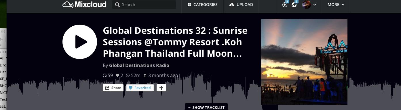 GLOBAL DESTIANTIONS RADIO MIXCLOUD
