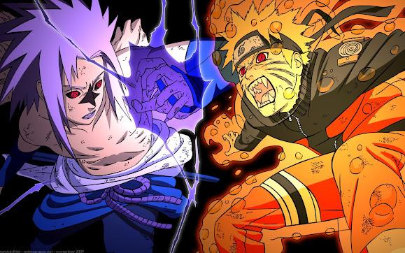 sasuke uchiha curse and naruto kyuubi cloack