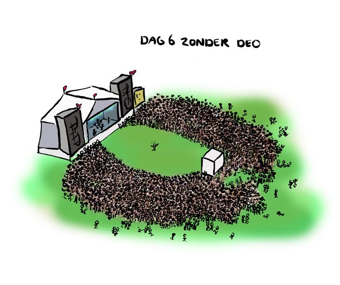 Dag 6 zonder deo, duizenden mensen vinden het niet leuk meer!