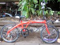 Sepeda Lipat Langtu TW026 6 Speed Shimano SIS ThumbShift 20 Inci