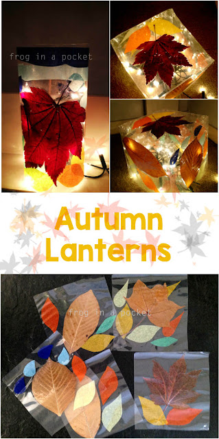 Autumn Lanterns - kids crafts