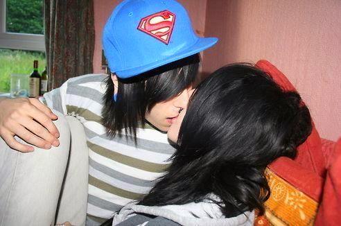 Romantic Couple beautiful kiss