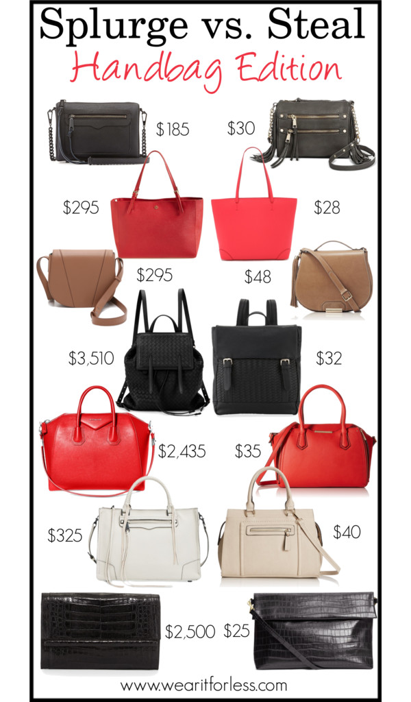 Bottega Veneta Intrecciato Medium Backpack, Black • Bottega Veneta • $3,300 Neiman Marcus Woven Fold-Over Backpack, Black • Neiman Marcus • $32 Givenchy Antigona Medium Leather Satchel Bag, Medium Red • Givenchy • $2,435 Aldo Halifax Top-Handle Bag • Aldo • $34.22–44.99 Rebecca Minkoff Regan Satchel • Rebecca Minkoff • $325 MG Collection Kalea Satchel • MG Collection • $39.99 Vince Cross Body Saddle Bag • Vince • $295 Faux Leather Crossbody Bag • $47.97 Rebecca Minkoff Avery Saffiano Crossbody Bag, Black • Rebecca Minkoff • $175 Women's Large Crossbody with Multiple Zipper Pockets and Side Fringes Grey - Cesca • $29.99 Mivo Shopper • $365 Street Level Faux Leather Pocket Tote • $48 H&M - Clutch Bag - Black/patterned - Ladies • H&M • $24.99 Nancy Gonzalez Large Crocodile Bar Clutch Bag, Black Matte • Nancy Gonzalez • $2,350 FOREVER 21 Quilted Faux Leather Crossbody • Forever 21 • $14.90 Rebecca Minkoff Quilted Mini Affair Bag • Rebecca Minkoff • $195 Tory Burch 'York' Buckle Tote • Tory Burch • $295 FOREVER 21 Pebbled Faux Leather Tote • Forever 21 • $27.90