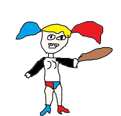Dibujos Perrones Dibujo De Harley Quinn En Suicide Squad