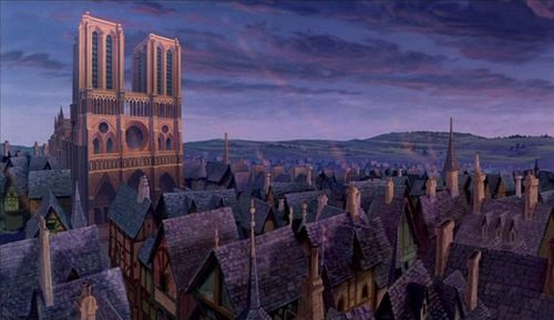 The cathedral The Hunchback of Notre Dame 1996 animatedfilmreviews.blogspot.com