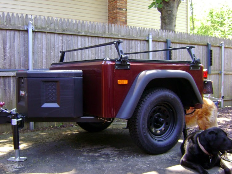 Jeep Trailer off road and four wheel drive lightweight fiberglass trailer