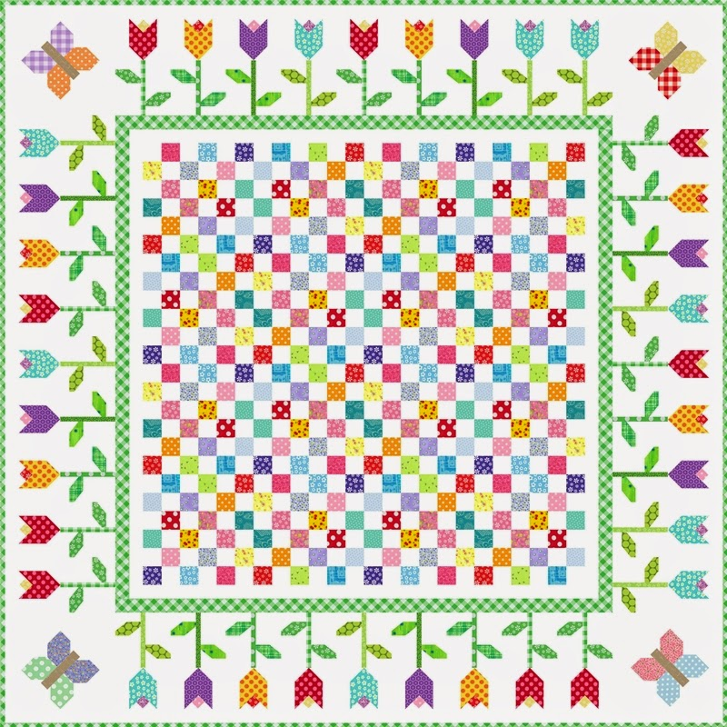 Free Quilting Patterns For Spring : Quilt Inspiration: Free Pattern Day: Easter and Spring Quilts