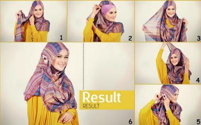 Tutorial hijab jilbab Wajah Bulat