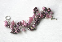 Still a little grey around the edges  - improving product photos - Polymer Clay Charm Bracelet