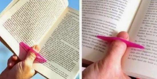 Mantenha o livro aberto sem esforço