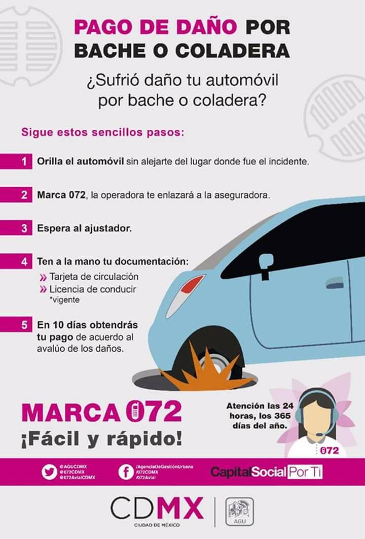 Si tu carro cayó en bache o coladera