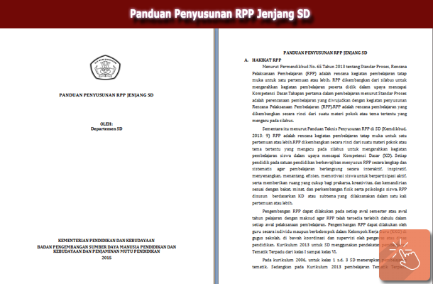 Panduan Penyusunan RPP Jenjang SD